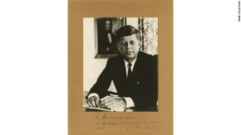 This is the last thing JFK signed in the Oval Office before he was