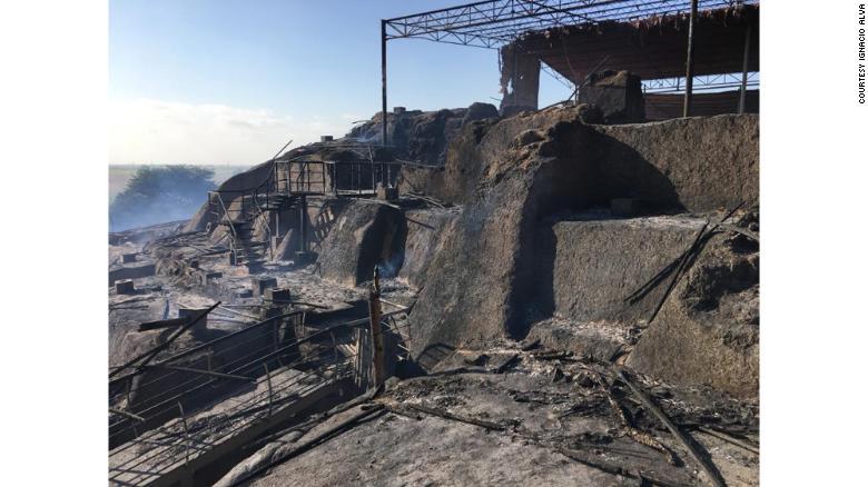 incendio ruinas ventarrón perú