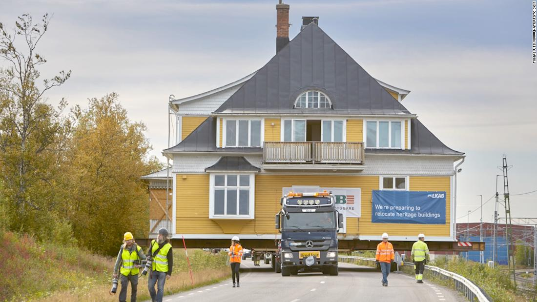 How Sweden is moving Kiruna, the arctic 'millipede town'