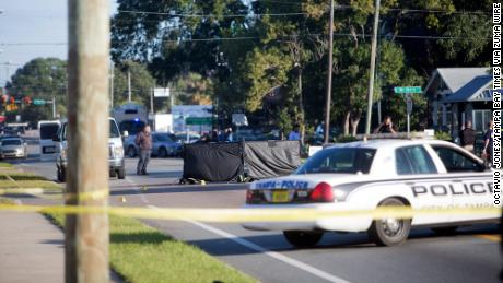 November 14, 2017 - City, Florida, U.S. - OCTAVIO JONES   |   Times .The Tampa Police Department and the Hillsborough County Sheriff's Office investigates another fatal shooting in the Seminole Heights neighborhood on Nebraska Avenue in Tampa, Florida on Tuesday, November 14, 2017. (Credit Image: © Octavio Jones/Tampa Bay Times via ZUMA Wire)