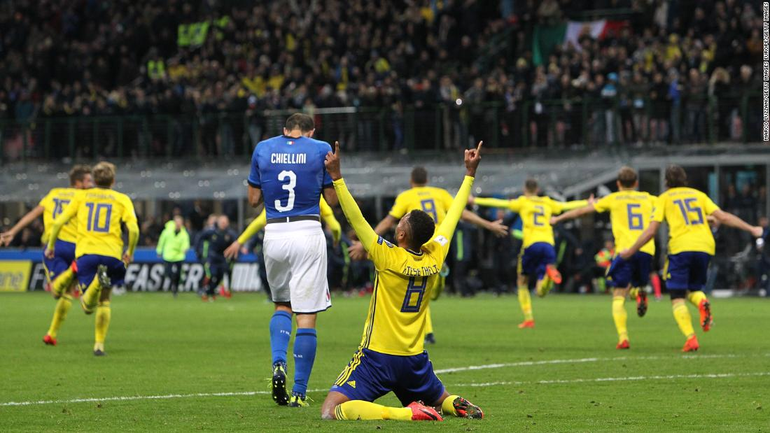 "A valiant performance from Sweden against Italy in November's playoff ensured the four-time winners <a href=""http://edition.cnn.com/2017/11/13/football/italy-sweden-world-cup-qualifiers/index.html"">failed to qualify for the first time since 1958</a>."