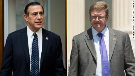 Rep. Darrell Issa of California, left, and Rep. Mark Amodei of Nevada, right, are pictured. Both are Republicans.