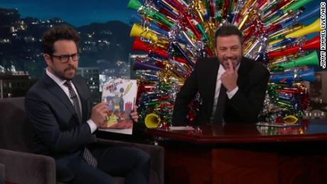 J.J. Abrams gave Jimmy Kimmel a throwback birthday gift.