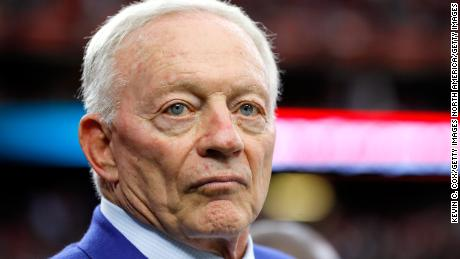 HOUSTON, TX - FEBRUARY 05: Dallas Cowboys owner and new Hall of Fame inductee Jerry Jones looks on prior to Super Bowl 51 between the Atlanta Falcons and the New England Patriots at NRG Stadium on February 5, 2017 in Houston, Texas.  (Photo by Kevin C. Cox/Getty Images)