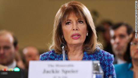 Rep. Jackie Speier (D-CA) testifies before the House Administration Committee in the Longworth House Office Building on Capitol Hill November 14, 2017 in Washington, DC