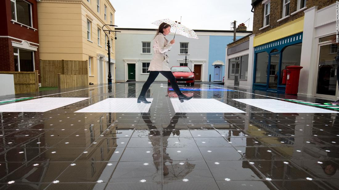 The crossing has a non-slip, waterproof surface.