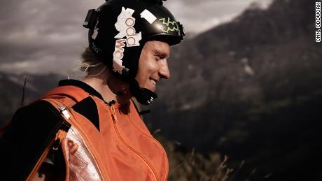 "Anton ""Squeezer"" Andersson is a 23-year-old professional wingsuit pilot who recently hit a stationary target while flying 155mph."