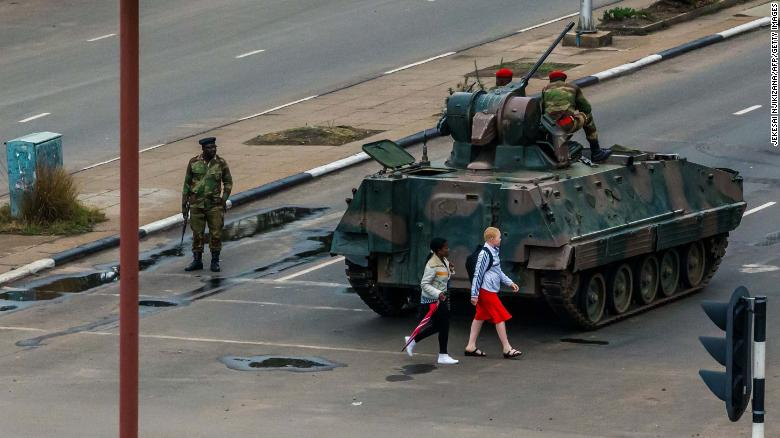 The military was in control of the streets and key sites in Harare on Wednesday.