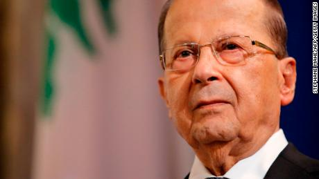 Michel Aoun (pictured) will not accept Hariri's resignation until he returns to Lebanon.