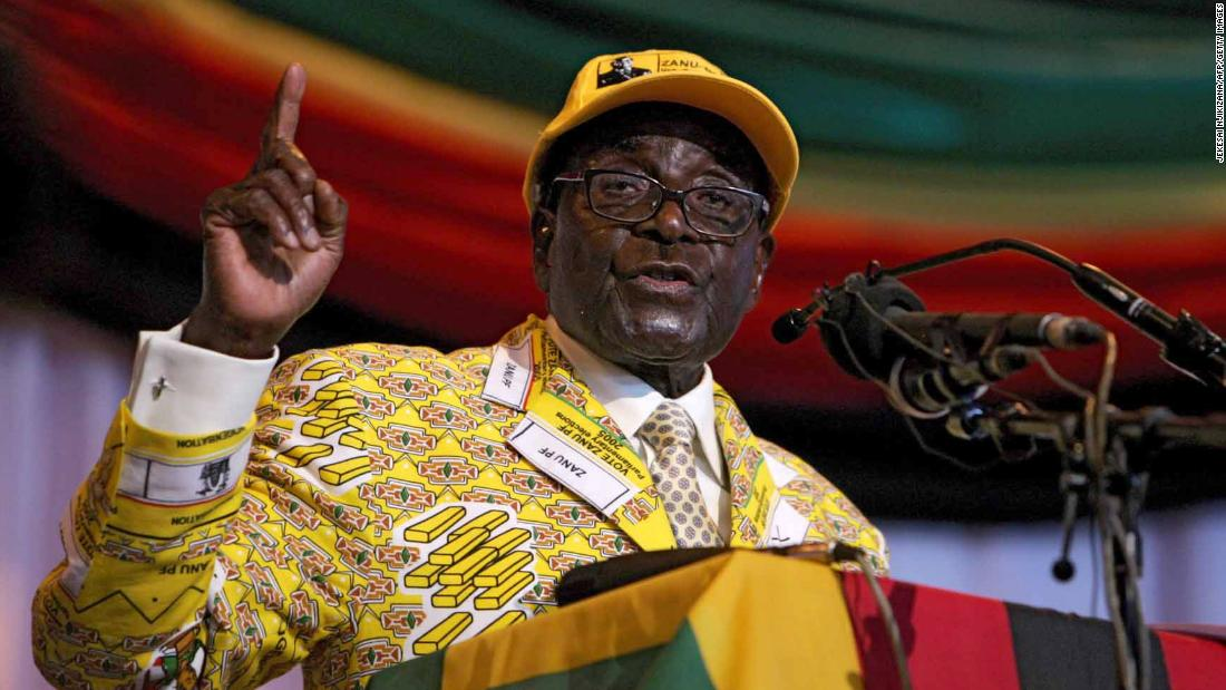 Mugabe delivers a speech at his party's annual national conference in December 2012. He vowed to overhaul business laws to require 100% black ownership of firms.