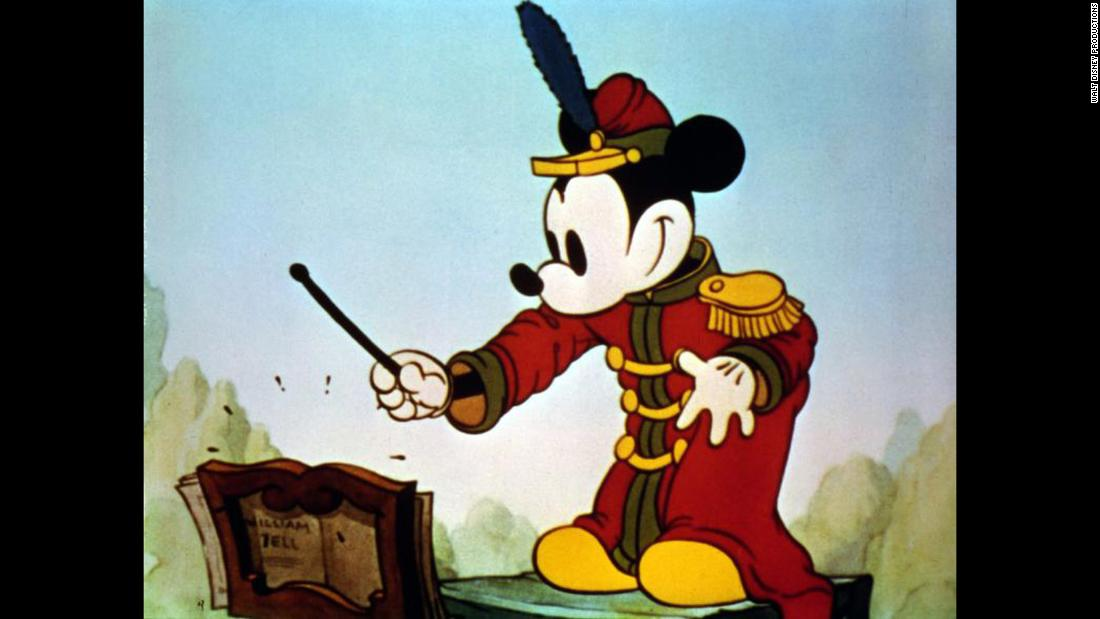 "The first color short of Mickey Mouse was ""The Band Concert"" in 1935."