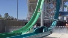 Family sues after son slides off water slide