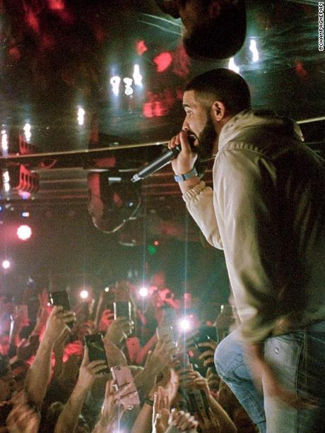 Drake performs at the Marquee Nightclub in Sydney, Australia.