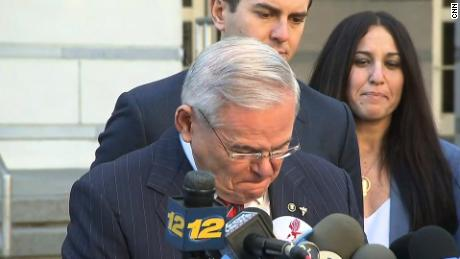 menendez breaks down mistrial