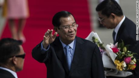 Cambodia's Prime Minister Hun Sen arrives in Manila on Saturday ahead of the 31st Southeast Asian Nations