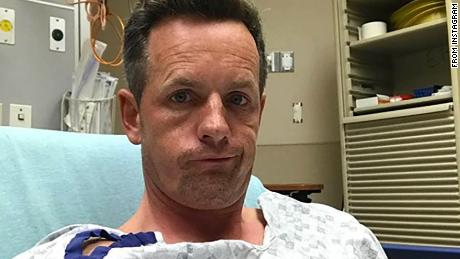 "Photo posted to Instagram shows golfer Luke Donald in hospital. Instagram caption: ""Well that wasn't quite the finish to my year I had in mind!! Had some chest pain last night and into this morning & it kept getting worse. After some medical advice, I had to withdraw & was shipped off to the hospital to get my heart looked at. After 7 hours of tests all looks good with my heart thankfully 👍🏼 A big thank you to the staff at the South East Georgia Brunswick hospital for taking good care of me.  Time to put my feet up for a few weeks, recharge, regroup and get ready for a big 2018."""