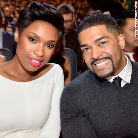 LOS ANGELES, CA - JANUARY 08: Actress-singer Jennifer Hudson (L) and pro wrestler David Otunga attend The 40th Annual People's Choice Awards at Nokia Theatre L.A. Live on January 8, 2014 in Los Angeles, California.  (Photo by Frazer Harrison/Getty Images for The People's Choice Awards)