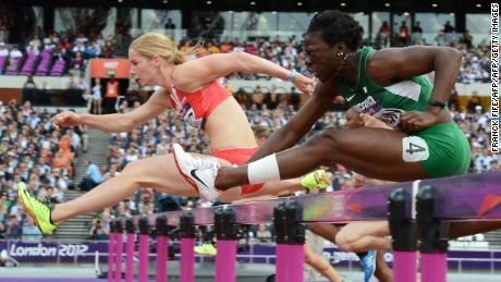 Seun Adigun at the London 2012 Olympics.