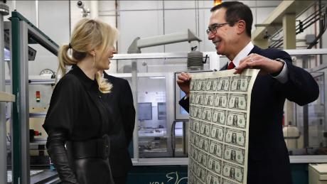 Mnuchin responded in November to viral money photos
