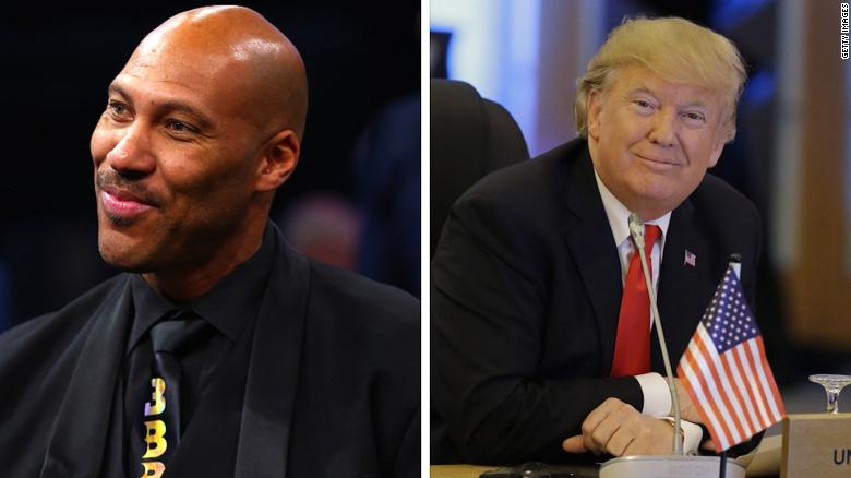 Trump's war of words with Lavar Ball