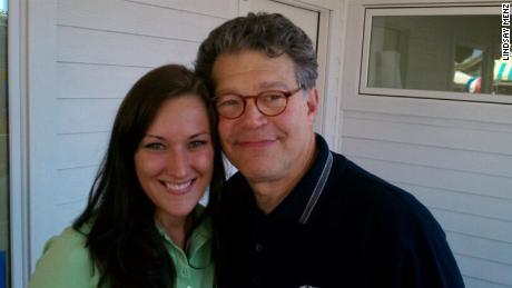 Franken poses in 2010 with Lindsay Menz, a 33-year-old woman who now lives in Frisco, Texas.