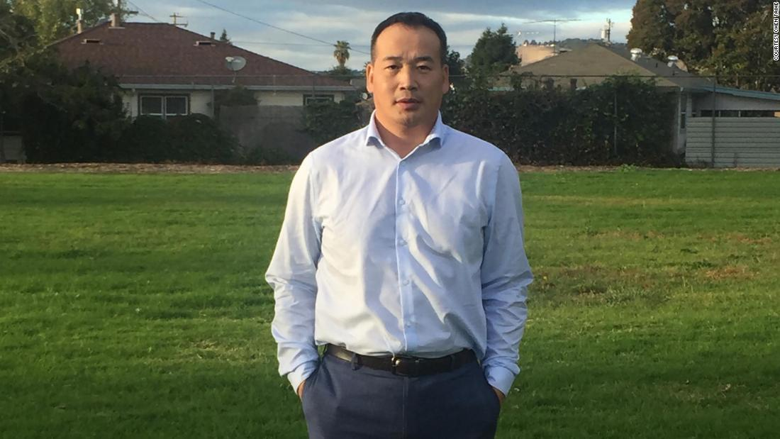 Chen Taihe, a blogger, was detained in Guilin. He now lives in the US.