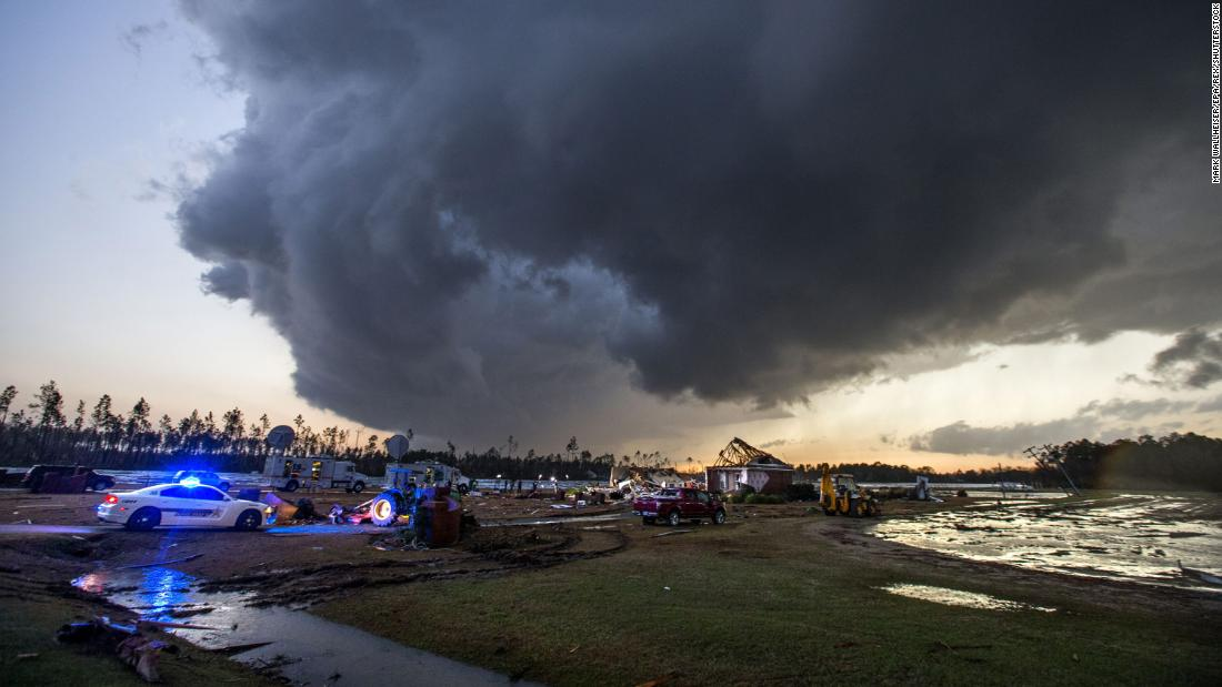 A violent storm system moved across the US in January. After damaging winds in southern California, the storm produced the third most tornadoes ever in a winter month. From Texas to Georgia, 79 confirmed tornadoes killed 24 and generated $1.1 billion in damages.