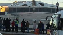 Bus' perfect photobomb blocks implosion view