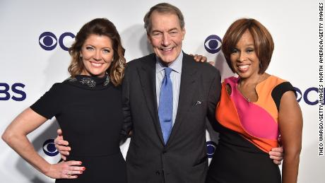 NEW YORK, NY - MAY 17:  Norah O'Donnell, Charlie Rose and Gayle King attend the 2017 CBS Upfront on May 17, 2017 in New York City.  (Photo by Theo Wargo/Getty Images)