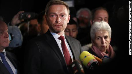 Christian Lindner, leader of the Free Democrats (FDP) announced his party's withdrawal from coalition talks late Sunday.
