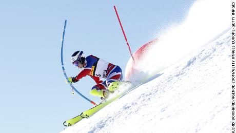 ST. MORITZ, SWITZERLAND - FEBRUARY 19: Dave Ryding of Great Britain in action during the FIS Alpine Ski World Championships Men's Slalom on February 19, 2017 in St. Moritz, Switzerland (Photo by Alexis Boichard/Agence Zoom/Getty Images)