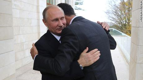 Russian President Vladimir Putin and Syrian President Bashar Assad met in Sochi, Russian state media Sputnik reported Tuesday. Putin praised Assad for his work fighting ISIS.