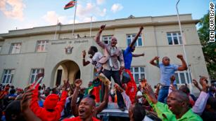 'A moment of brilliance': What it was like in Harare when Mugabe resigned