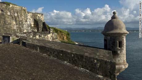 The Castillo San Felipe del Morro in San Juan, on August 1, 2010.The San Felipe del Morro Fort is a fortification built in XVI century the north end of San Juan, Puerto Rico. (Luis Acosta/AFP/Getty Images)
