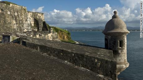 The San Felipe del Morro castle, UN World Heritage since 1983, in San Juan, on August 1, 2010.The San Felipe del Morro Fort is a fortification built in XVI century the north end of San Juan Puerto Rico. (LUIS ACOSTA/AFP/Getty Images)