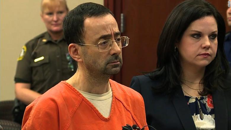 Larry Nassar pleads guilty in court Wednesday.