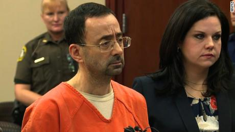 Larry Nassar in court on 11/22/17