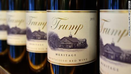 Trump brand wine is seen inside the Trump International Hotel in Las Vegas, Nevada on February 23, 2016. (JOSH EDELSON/AFP/Getty Images)