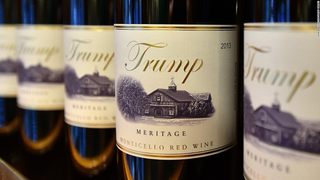 National Park Service doesn't object to sale of Trump wine at park