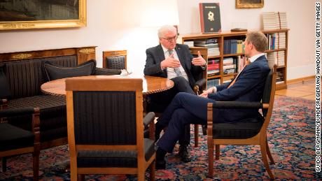 On Tuesday, Steinmeier met with Christian Lindner, leader of the Free Democrats and the man who announced his party's withdrawal from coalition talks Sunday night.
