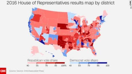 House of Representatives 2016 Map