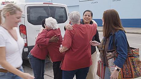 """The Church Ladies"" greets women newly-released from prison"