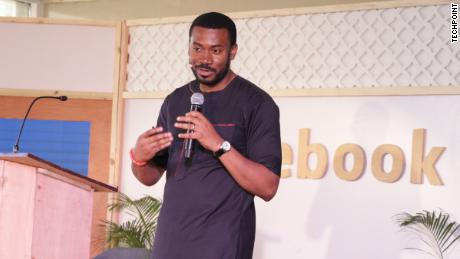 Emeka Afigbo, Platform Partnerships, Head of Middle East & Africa speaking at the event.