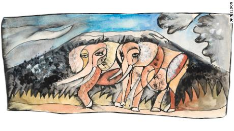 """Elephants,"" by Dan Eldon"