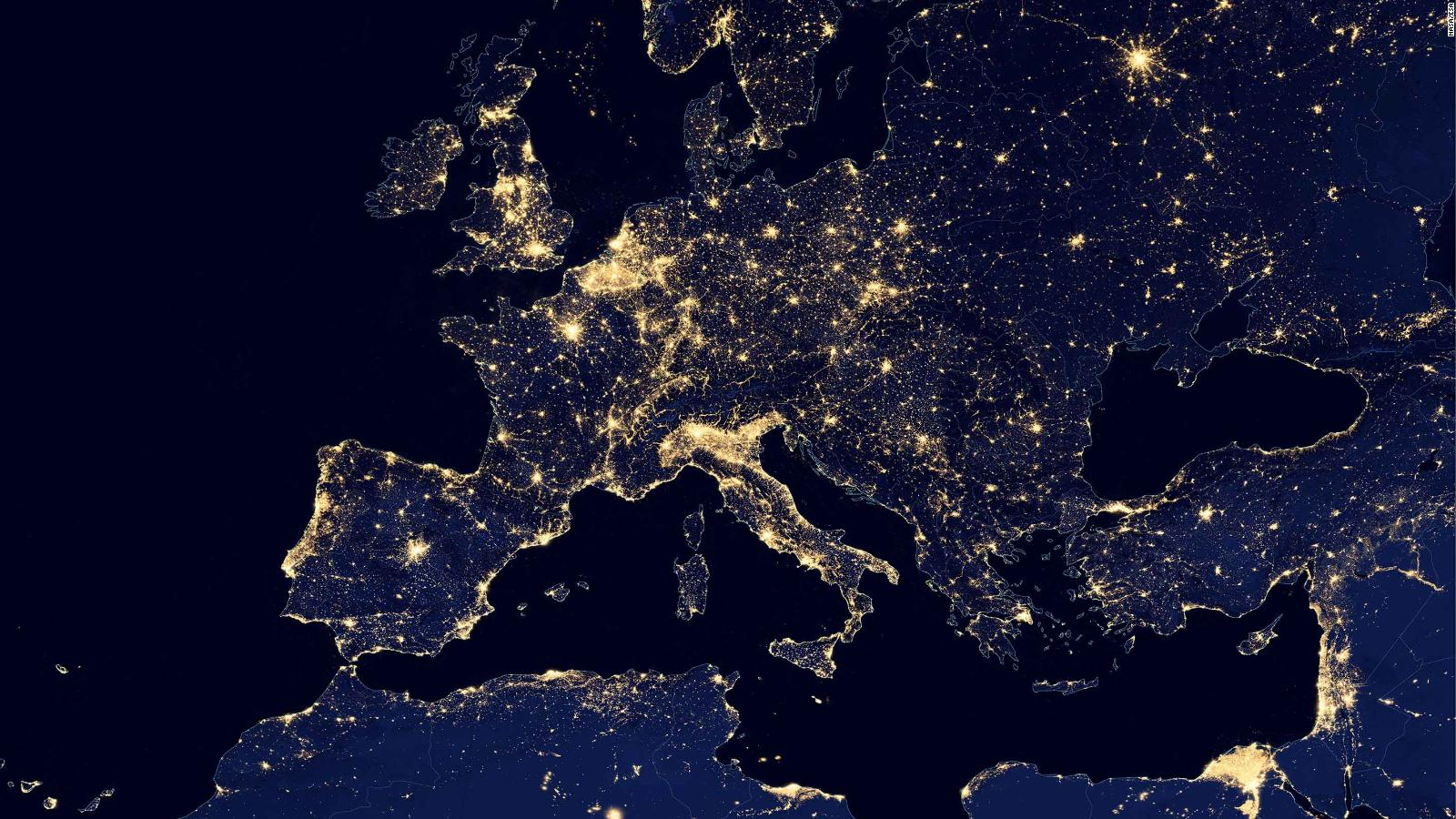 Light Pollution Suomi NPP Data Used To Create World Atlas Of - Us at night map