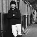 Michael Owen casusal pose horse stables