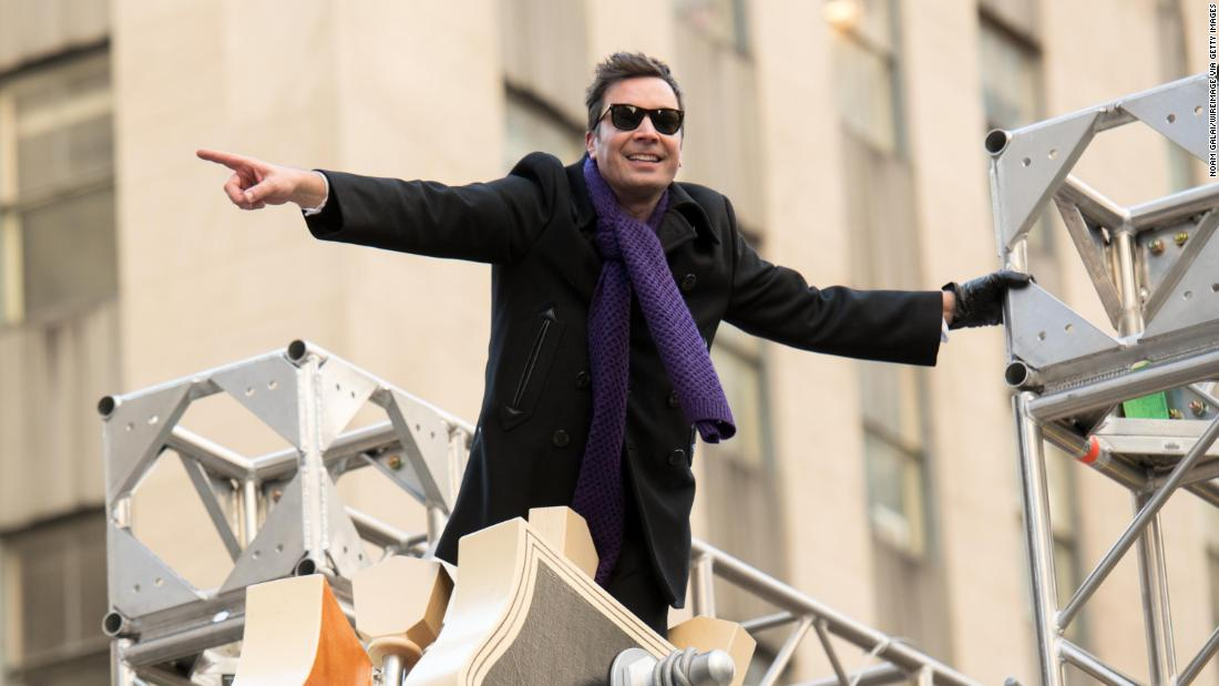"""Tonight Show"" host Jimmy Fallon attends the annual parade, which has been going on for nearly a century now. <a href=""http://www.cnn.com/2013/11/23/us/gallery/macys-thanksgiving-day-parade-balloons/index.html"" target=""_blank"">See historic photos of the parade</a>"