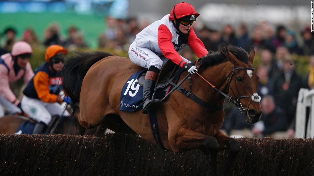 Pendleton competed over the jumps and exceeded expectations with a fifth placed finish out of 24 runners. She received a huge cheer from the crowd on Gold Cup day.