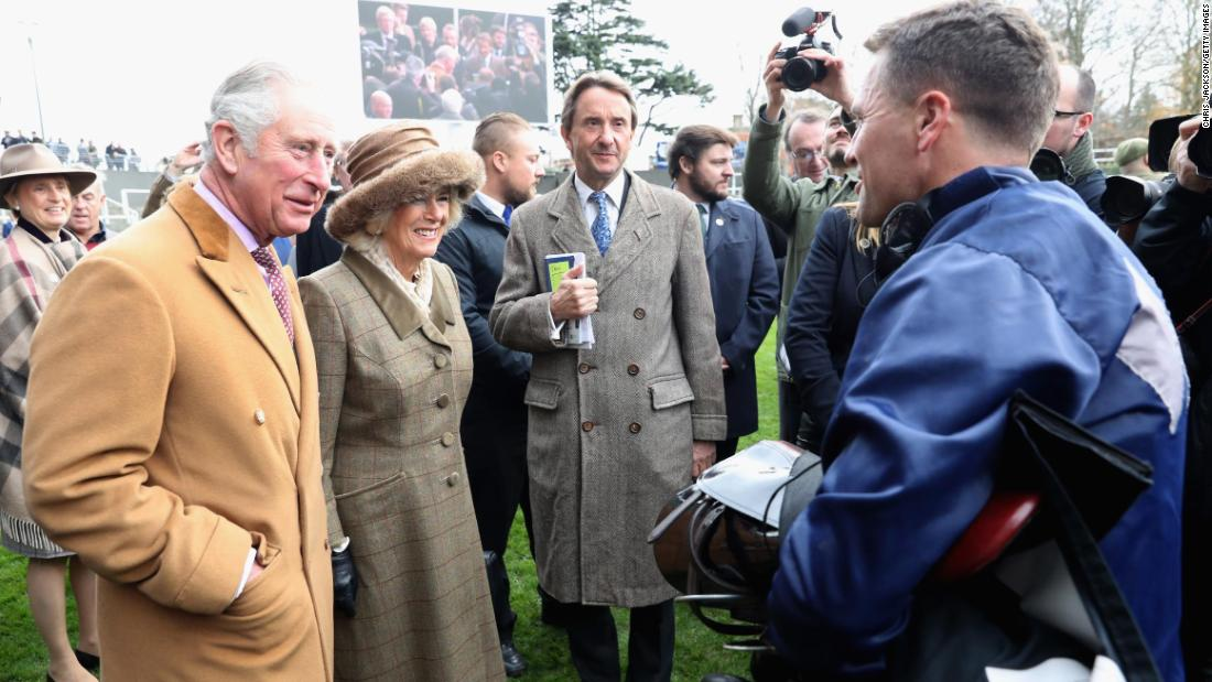 Owen was greeted by Prince of Wales and the Duchess of Cornwall after the race.