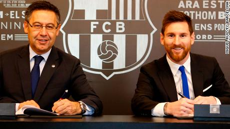 FC Barcelona and Lionel Messi signed on Saturday morning a new contract that will keep the Argentinian superstar at the Club through the 2020/21 season. The buyout clause was set at €700m.